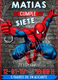 Invitación cumpleaños Spiderman #01 | Digital Imprimible