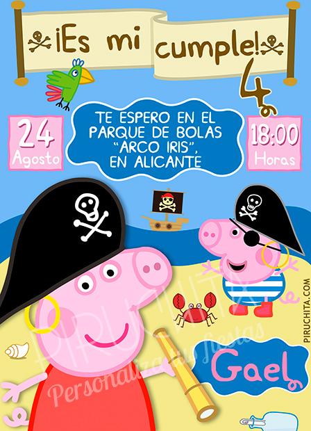 Invitación cumpleaños Peppa Pig #04 | Digital Imprimible
