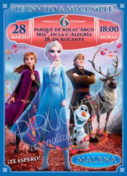 Invitación cumpleaños de Frozen II | Digital Imprimible