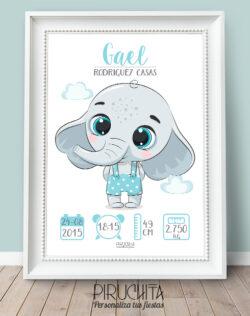 Lámina de Nacimiento Elefante
