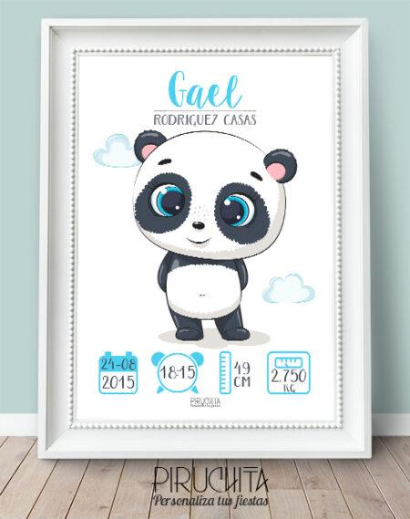 Lamina Nacimiento Panda Niño