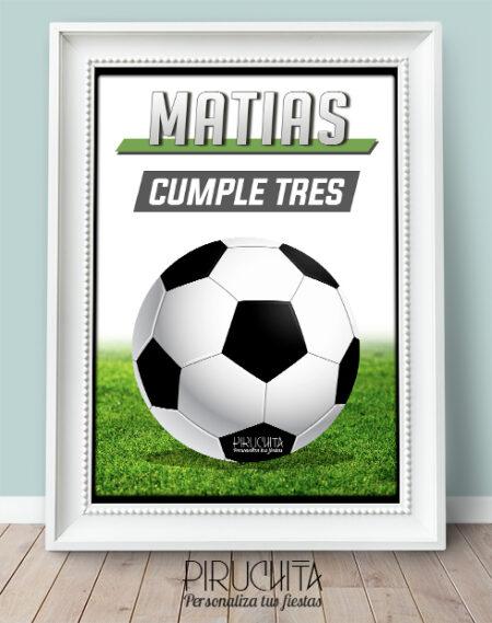 Lámina de Cumpleaños Fútbol