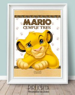 Lámina de Cumpleaños El Rey León