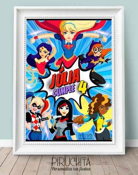 Lámina de Cumpleaños SuperHero Girls #02