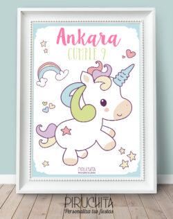Lámina de Cumpleaños Unicornio
