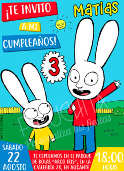 Invitación de Cumpleaños de Simon y Gaspar