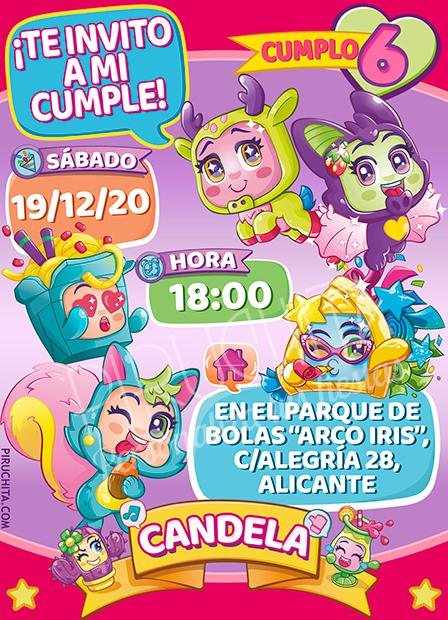 Invitación de Cumpleaños de MojiPops