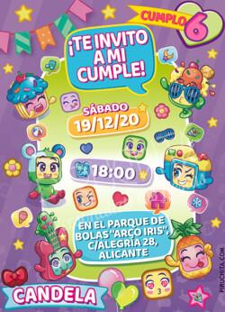 Invitación de Cumpleaños de MojiPops #02
