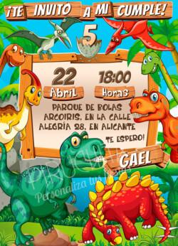 Invitación de Cumpleaños de Dinosaurios