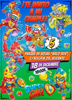Invitación de Cumpleaños de SuperZings Kazoom Kids