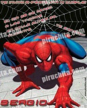 Invitación cumpleaños Spiderman #01-0