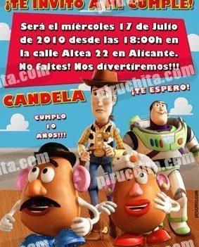 Invitación cumpleaños Toy Story #01-0
