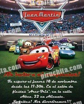Invitación cumpleaños Cars #01-0