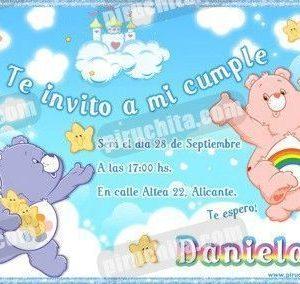 Invitación cumpleaños Ositos amorosos #01-0