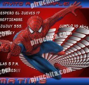Invitación cumpleaños Spiderman #02-0