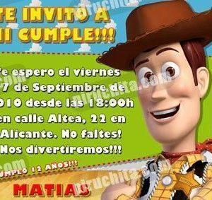 Invitación cumpleaños Toy Story #02-0