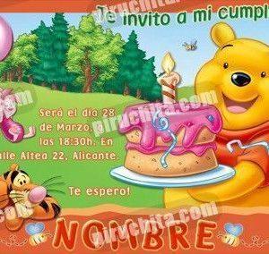 Invitación cumpleaños Winnie Pooh #02-0