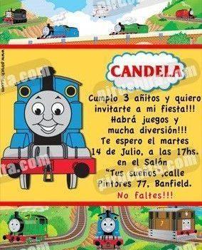 Invitación cumpleaños Thomas y sus amigos #03-0