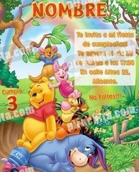 Invitación cumpleaños Winnie Pooh #03-0