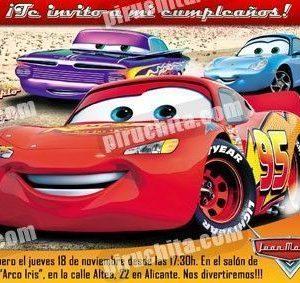 Invitación cumpleaños Cars #03-0