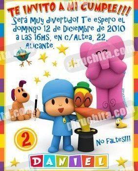 Invitación cumpleaños Pocoyo #03-0