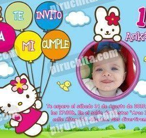 Invitación cumpleaños Hello Kitty #03-0