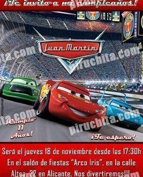 Invitación cumpleaños Cars #04-0