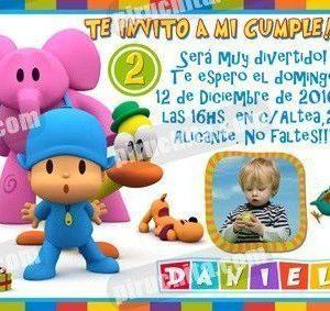 Invitación cumpleaños Pocoyo #04-0