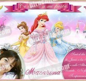 Invitación cumpleaños Princesas Disney #05-0
