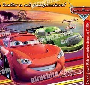 Invitación cumpleaños Cars #06-0