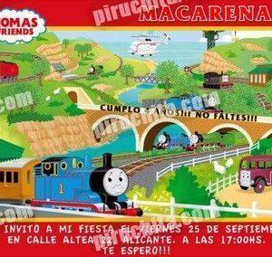 Invitación cumpleaños Thomas y sus amigos #06-0
