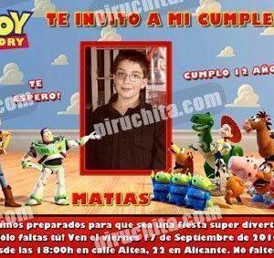 Invitación cumpleaños Toy Story #06-0