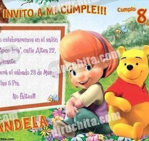 Invitación cumpleaños Winnie Pooh #08-0