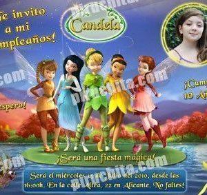 Invitación cumpleaños Campanilla #08-0