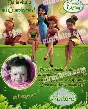 Invitación cumpleaños Campanilla #10-0