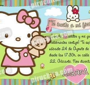 Invitación cumpleaños Hello Kitty #11-0