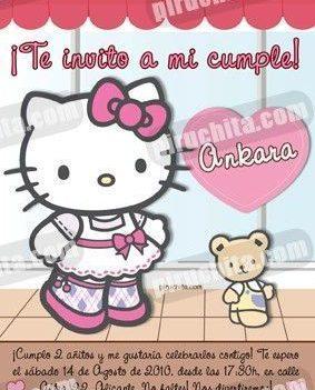 Invitación cumpleaños Hello Kitty #14-0
