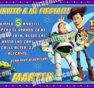 Invitación cumpleaños Toy Story #14-0