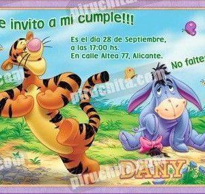 Invitación cumpleaños Winnie Pooh #16-0