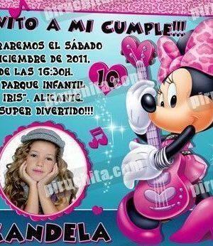 Invitación cumpleaños Mickey y sus amigos #06-0