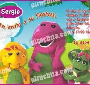 Invitación cumpleaños Barney y sus amigos #2-0