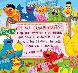 Invitación cumpleaños Barrio Sesamo #2-0