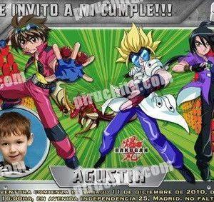 Invitación cumpleaños Bakugan #2-0