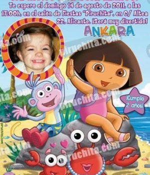 Invitación cumpleaños Dora la Exploradora #05-0