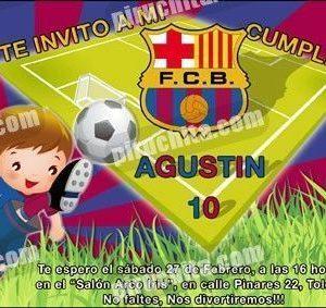 Invitación cumpleaños Barça #01-0