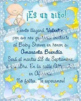 Invitación Baby Shower de niño #01-0