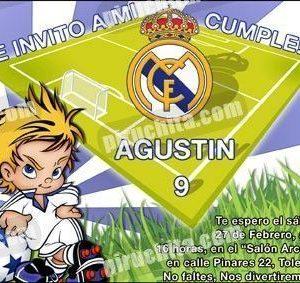 Invitación cumpleaños Real Madrid #01-0