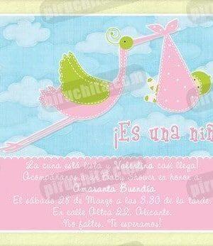 Invitación Baby Shower de niña #03-0
