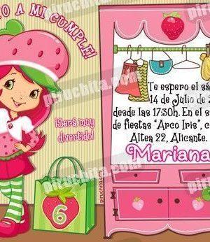 Invitación cumpleaños Tarta de fresa #08-0