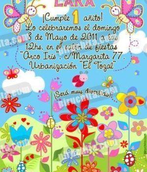 Invitación cumpleaños Primavera/Jardín #04-0